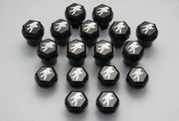 ランソムマシンワークス(Ransom Machine Works)08-UP GSX-1300R 隼 イングレイブボルトキット17P,プレイン・ブラックHayabusa 08-up Fairing Bolt black smooth kit