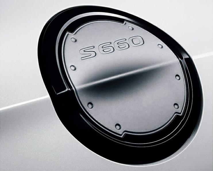 HONDA ホンダ 純正 アクセサリー パーツ S660フューエルリッド (アルミ製) シルバー×ブラック塗装 08F59-TDJ-000A JW5