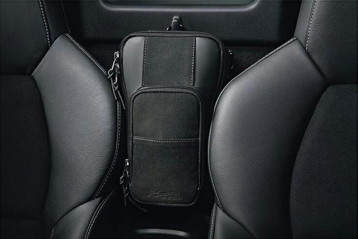 HONDA ホンダ 純正 アクセサリー パーツ S660シートセンターバッグ (ベルト1本付属/車名ロゴ付/合成皮革×ラックス スェード) 08U51-PB1-010 08U51-PB1-030 JW5