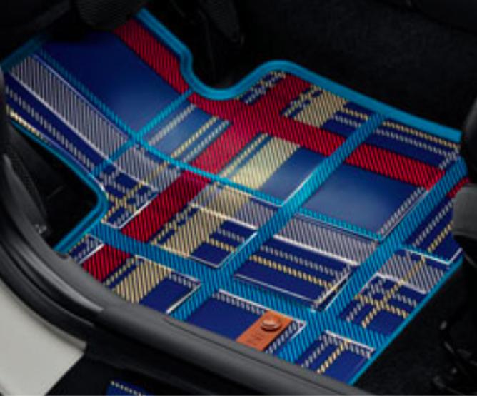 BMW MINI ミニ 純正 アクセサリー F56 (3 DOOR) F55 (5 DOOR) オールウェザーフロアマットセット スピードウェル・ブルー フロント用 【51472354161】 パーツ