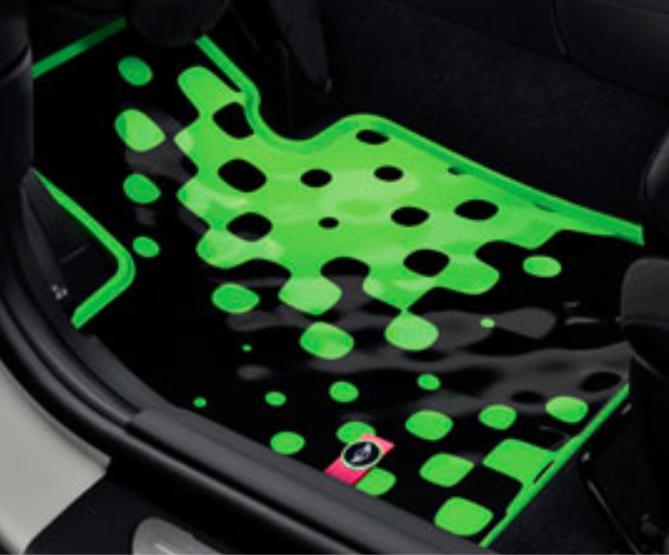 BMW MINI ミニ 純正 アクセサリー F56 (3 DOOR) F55 (5 DOOR) オールウェザーフロアマットセット ビビッドグリーン フロント用 【51472354159】