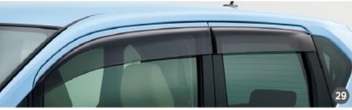 DAIHATSU ダイハツ 純正 アクセサリー MOVE ムーヴ ムーヴカスタム ワイドバイザー(1台分) 【08610-K2031】 LA150S LA160S
