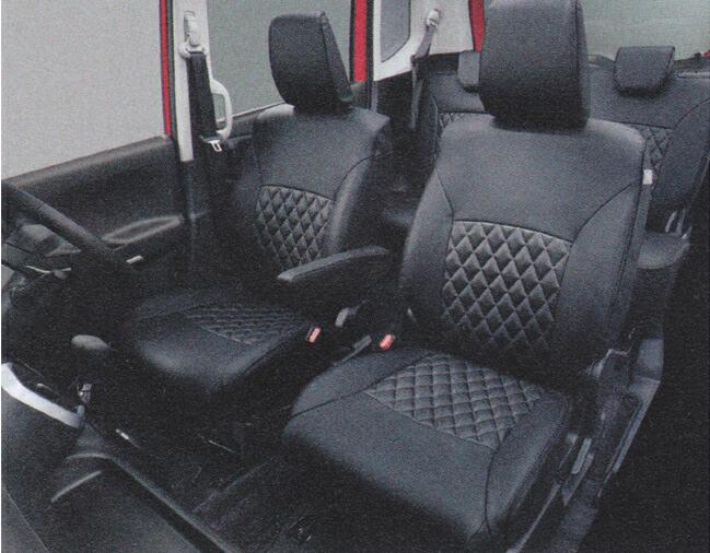 SUZUKI スズキ 純正 アクセサリー パーツ SOLIO ソリオ革調シートカバー サイドエアバッグ有、リヤアームレスト有車用 1台分 99181-81P10 MA26S MA36S MA46S