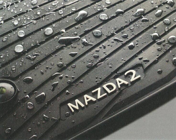 MAZDA マツダ 純正 アクセサリー パーツ MAZDA2 マツダ2オールウェザーマット 1台分【D43N V0 350】 DJLFS DJLAS DJ5AS DJ5FS