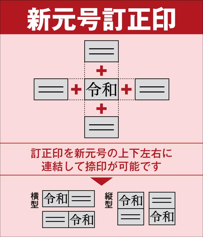 新元号 令和 本物◆ 訂正 ゴム印大 小 ギフ_包装 4号文字 5号文字 2セット入り