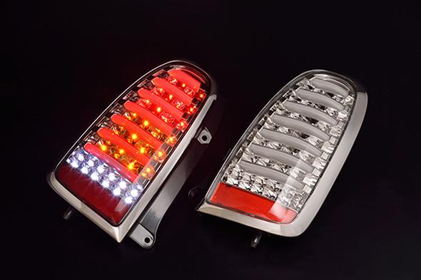 CLEAR WORLD(クリアワールド)L700系ミラジーノ H10y10~H14y12 LEDテールランプ/シーケンシャルウィンカー機能塔載【インナークローム/クリアレンズ】 CTD-20