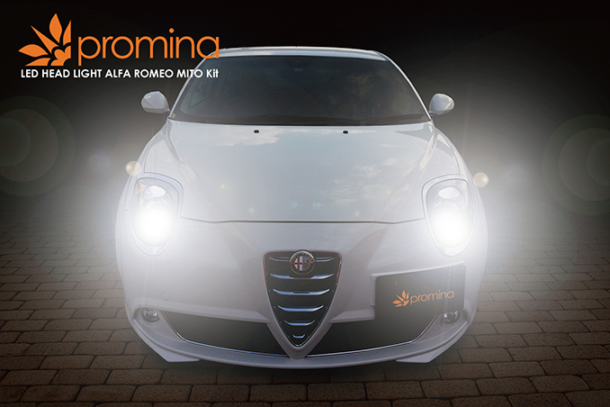 promina LED HEAD LIGHT アルファロメオ ミト専用キット(ハロゲンヘッドライト車)H7/6000K PMEMT60
