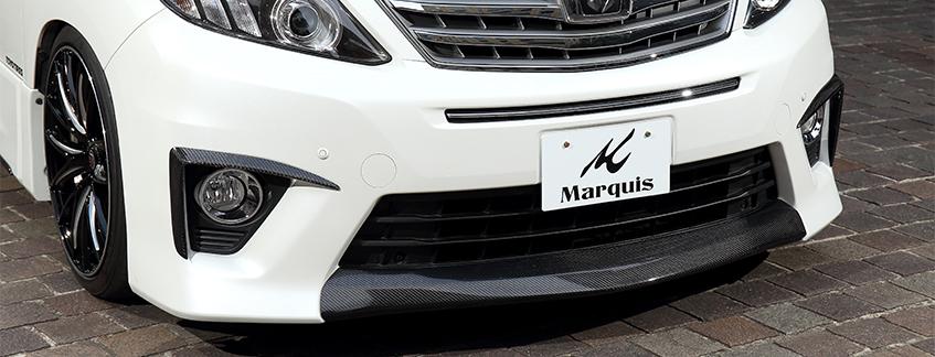 Marquis(マーキー)エアロ4点キット/カーボン製(綾織) 20系アルファード後期 SR/Sグレード純正エアロ専用 KS-230151