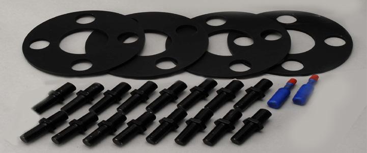KSP:REAL New MINI (R55/R56/R57) M14-P1.25ボルト仕様ーー>M12xP1.5ナット仕様 変換ボルトキット 専用5mmスペーサー付属 (KS-1701)