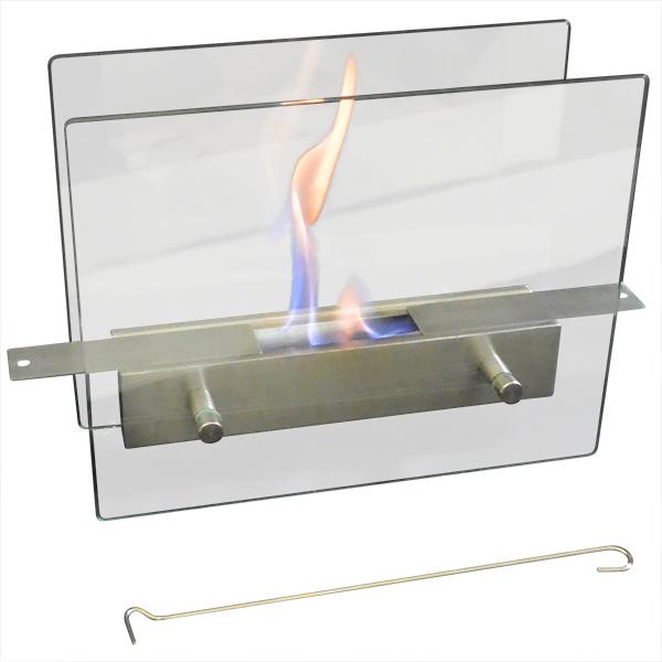ガレージ・ゼロ バイオエタノール暖炉 ガラススタンドタイプ スライド開閉 屋内/屋外両用