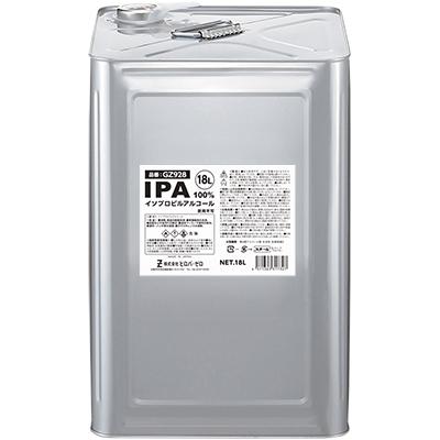 塗装の除去、塗装のうすめ液、塗膜はがし、脱脂洗浄などに返品不可 ヒロバ・ゼロ IPA(純度100%) 18L(イソプロピルアルコール/2-プロパノール/イソプロパノール/2-プロパノール)/