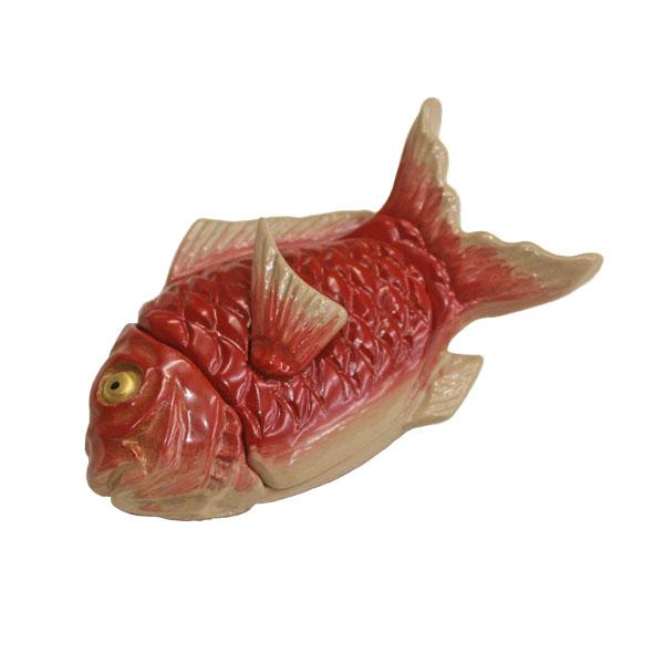 【送料無料】香合 高岡漆器 鯛