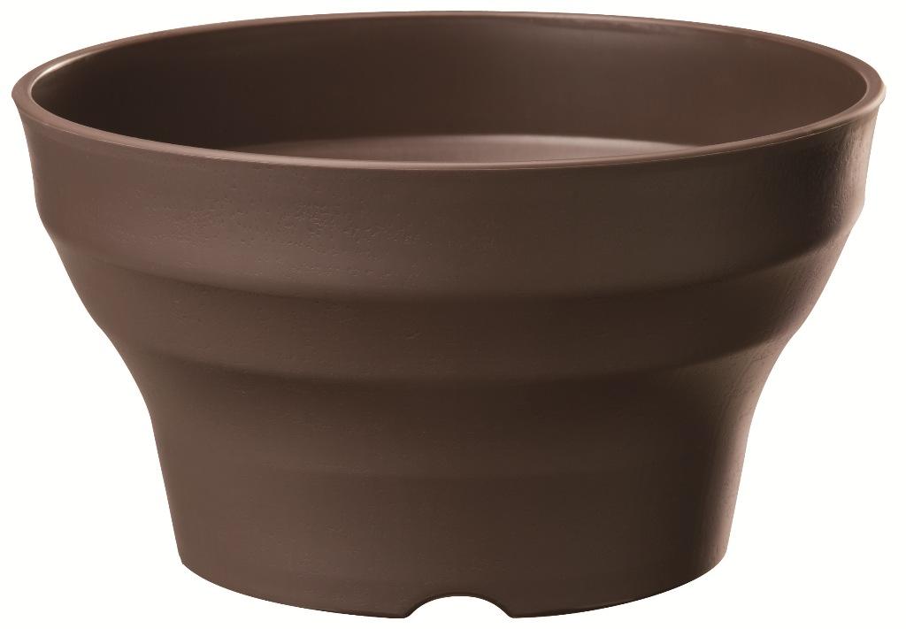 捧呈 素焼き鉢の様なナチュラルな質感のプランター 高級な フレグラーボール30型DB 浅型ポット ダークブラウン
