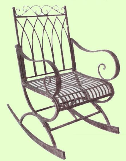 アイアン製 ロッキングチェア【MO-12-19】 ガーデンチェア★代引きの場合は別途+5,000円追加送料★