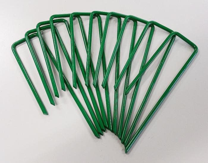 大幅値下げランキング 目立ちにくいグリーンカラー 人工芝おさえピン 公式通販 グリーン 10本 10P×1袋入り 除草 除草シート