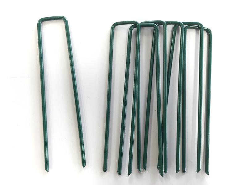 目立ちにくいグリーンカラー リアル人工芝 防草シート用 マツモト 人工芝おさえピン グリーン 4年保証 安い 人工芝押えピン 芝用ピン 除草シート 除草 10P×1袋入り 10本