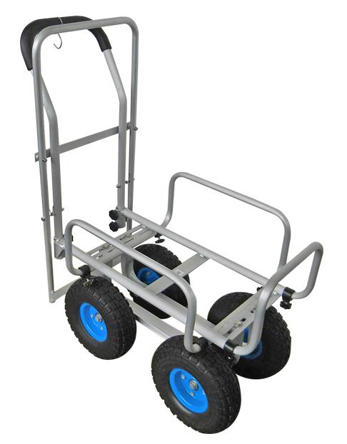 【送料無料】アルミハウスカー 10インチデカタイヤ 青 ブレーキ付き