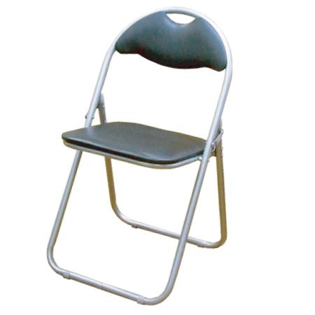 【12脚セット】 折りたたみパイプ椅子【送料無料】(1脚1098円)(ブラック) SC99007