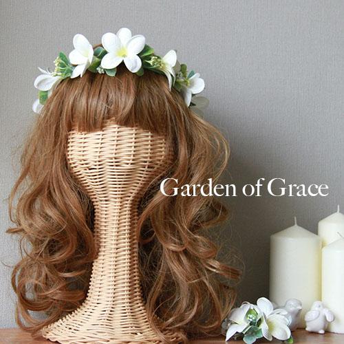 プルメリアの花冠 ヘッドドレス ハワイ挙式 シルクフラワ ー 造花 花輪 ヘッドリース ウエディング 結婚式 二次会 パーティー