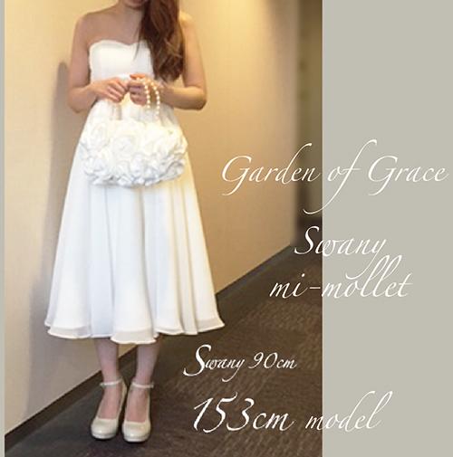 【新作】刺繍とパールのシンプルミニドレス.ウエディング.結婚式.