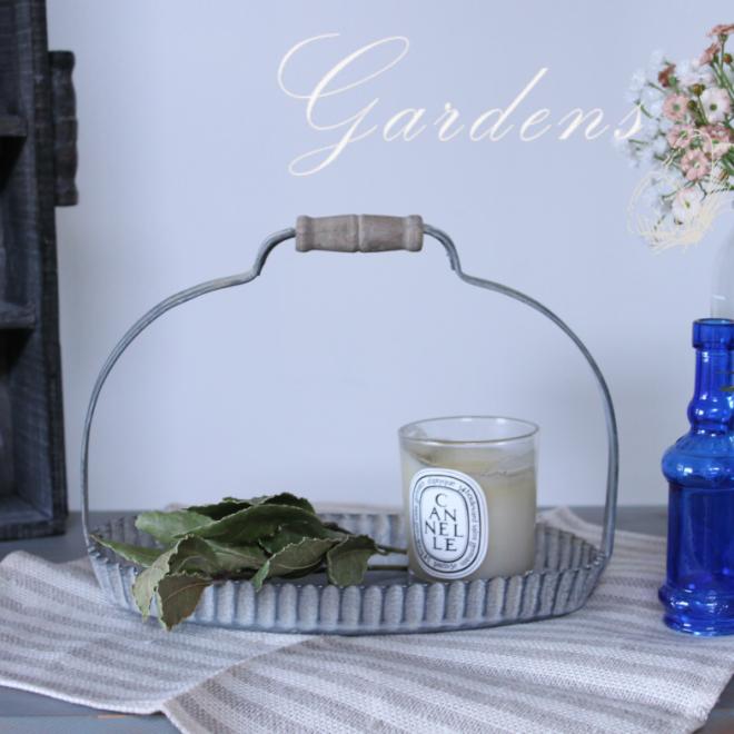 ブリキ ガーデン雑貨 シャビー コベントガーデン 商品追加値下げ在庫復活 人気の定番 ブロカント ラギッドハンドルオーバルS