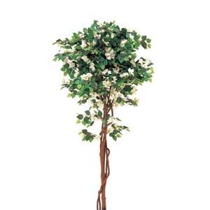 人工樹木 ブーゲンビリア(ホワイト)H1800【屋内用】【人工植物】【室内庭園】【インテリア】【グリーンアイテム】【代引不可】【メーカー直送】【坪庭用和風樹木】