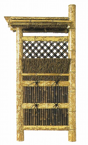 図面屋根付垣(屋根取外可)W600×1730