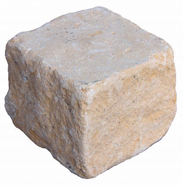 ハオリーストーン【石灰岩】ピンコロ半丁掛約90×90×43mm内外 54個セット【石材】【ガーデニング】【アプローチ】【庭】
