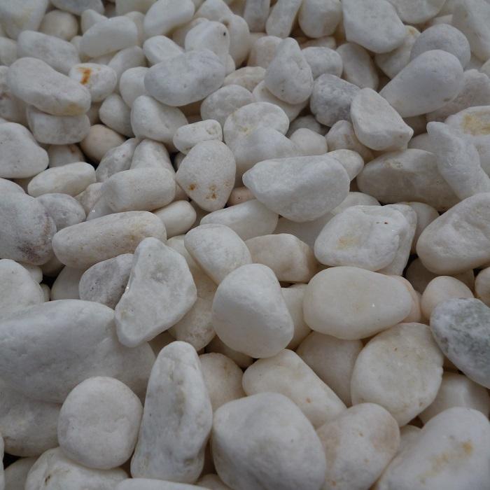 白玉砂利1.5寸200kgセット(20kg袋×10袋)(※写真は白玉砂利5分)【砂利】【砕石】【チップ】【ホワイト】