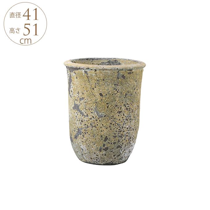 いにしえ 和花器 純朴プランター L 鉢 大きい プランター 大型 アンティーク 陶器 植木鉢 和風 プランターポット ガーデニング 大きな フラワーベース 日本
