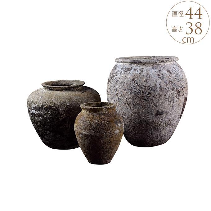いにしえ 和花器 純朴バーラポット 鉢 大きい プランター 大型 アンティーク 陶器 植木鉢 和風 プランターポット ガーデニング 大きな フラワーベース 日本