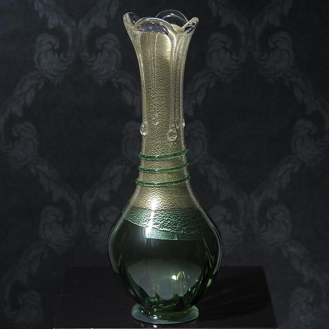 花瓶 ガラス 国産 春の芽吹き 新緑生命の力 発芽 花器 大きい おしゃれ 日本製 大きな フラワーベース ギフト 贈り物 プレゼント 生け花 活花 生花 活け花 【送料無料】