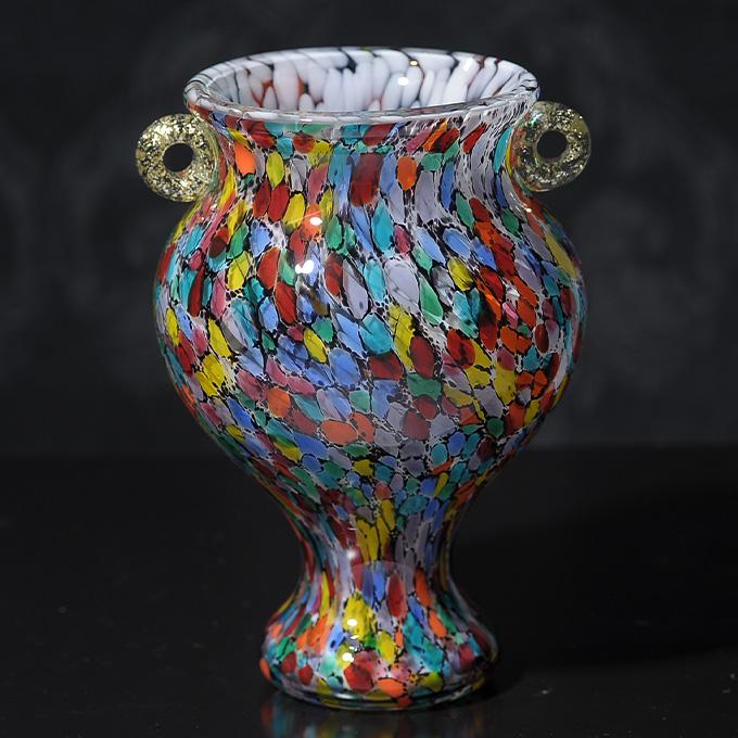 見てるだけで心躍る祭りの光の色彩 華やかなガラス花瓶  【ポイント5倍d】 花瓶 ガラス 大型 豪華絢爛 ねぶた祭の彩り ワイド 花器 大きい カラフル おしゃれ 日本製 大きな フラワーベース 大型 生け花 活花 生花 活け花 室内 インテリア 国産 美しい きれい ギフト 贈り物 プレゼント 【送料無料】