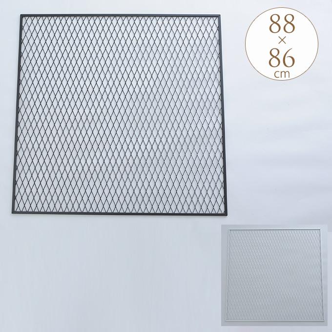 日本製 メッシュパネル 幅88×高さ86cm ラスティ DIY パーツ 国産 金具 ガーデニング インテリア 自作 棚作り 自分で 作る ラック 収納 家具 ディスプレイ 壁 ウォールデコ
