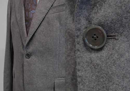 TAGLIATORE タリアトーレグレーフランネルシングルブレストスーツ 2SVJ22B01 18UIZ064TF1JclK