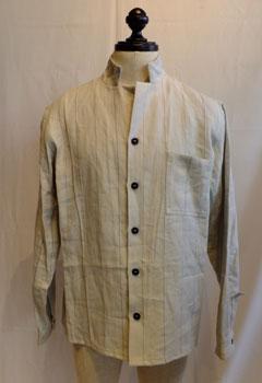 40%バーゲンプライス!Berg fabel バーグファベルshirt jacket /ストライプシャツジャケット grey stripe【BFmsh32/606】