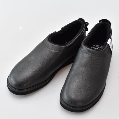 foot the coacher フットザコーチャーFTC1934016 FT-MOC SHOES ファーライニングモックシューズBLACK STEER【FTC1934016 FT-MOC】