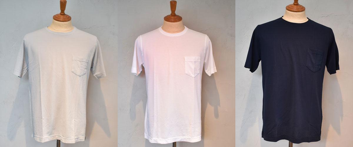 Drumohr ドルモア ポケットTシャツ【DTJ000-52】