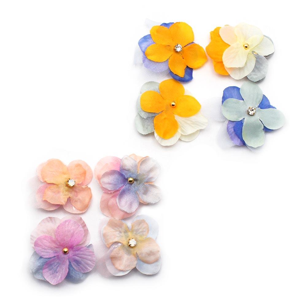 人気ブランド cleary 1年保証 flower ミニへアクリップセット:zoule ゾーラ