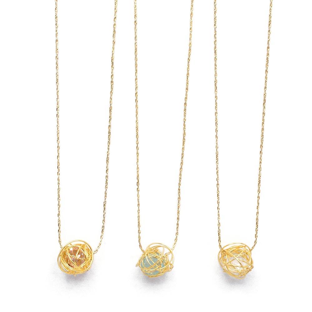 メーカー公式 買物 mini wire ball ネックレス:zoule ゾーラ