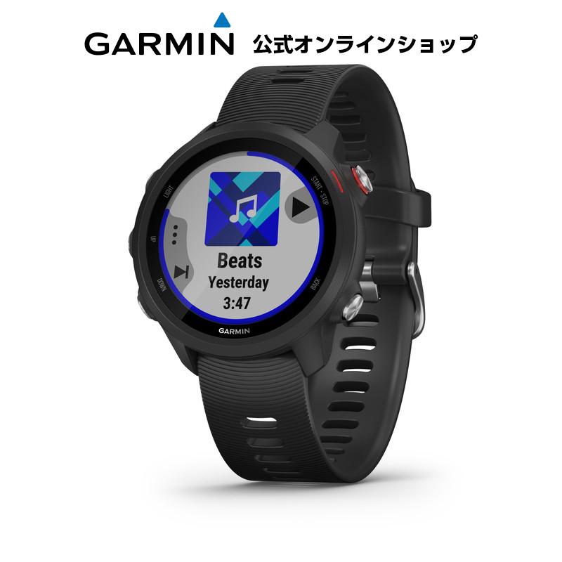 GARMIN ガーミン ForeAthlete 245 Music Black Red ランニングウォッチ マルチスポーツ GPS トレーニング