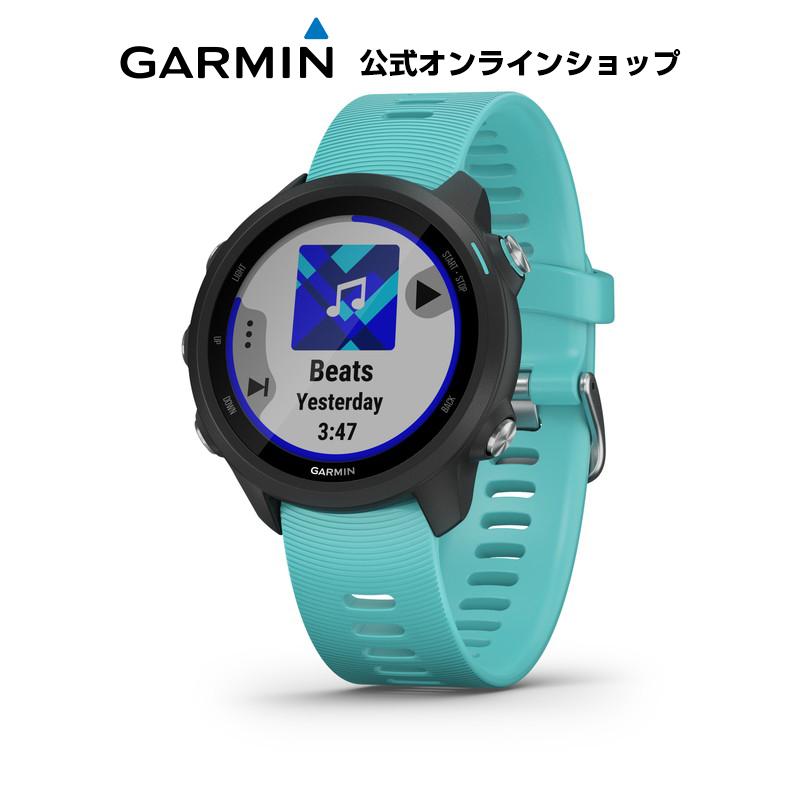 GARMIN ガーミン ForeAthlete 245 Music Black Aqua ランニングウォッチ マルチスポーツ GPS トレーニング