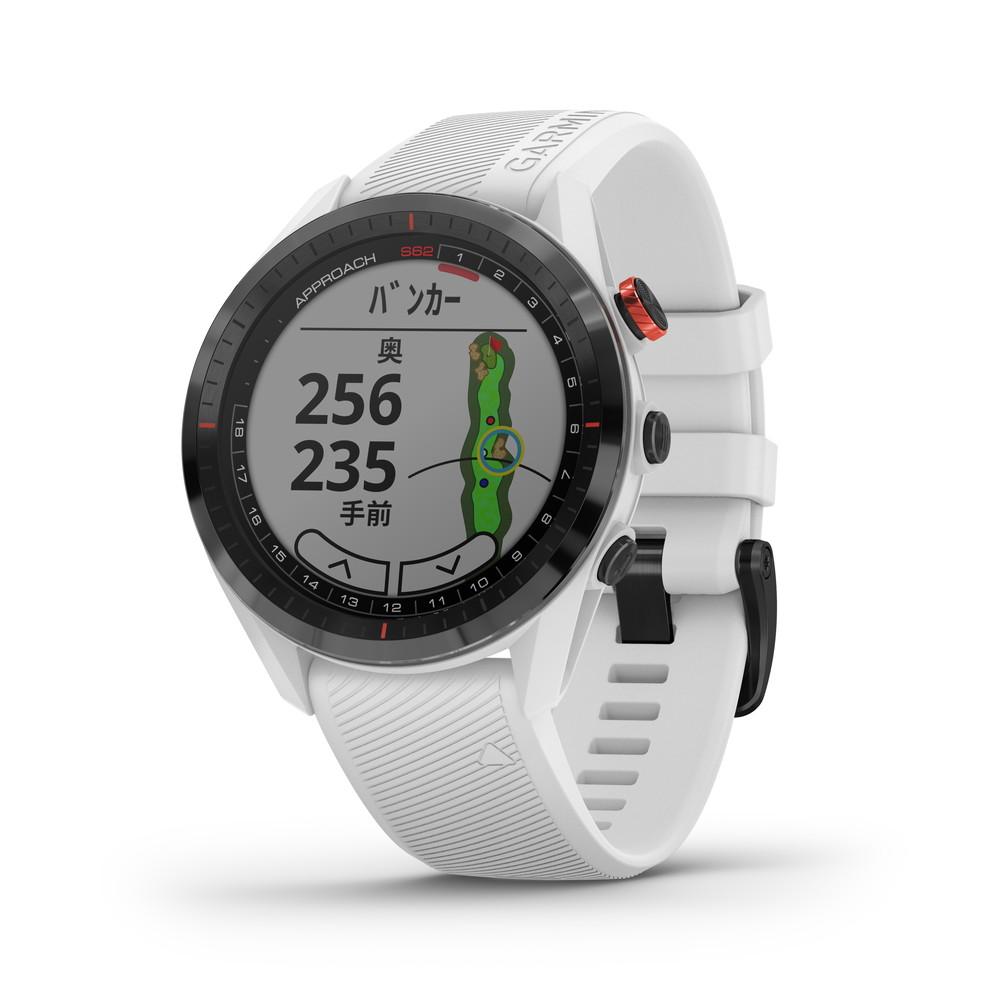 GARMIN ガーミン ApproachS62 White アプローチ GPS ゴルフ コースマップ スイング ショット追跡 高低差情報
