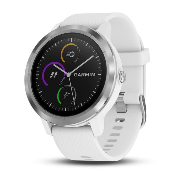 GARMIN ガーミン vivoactive3 White stainless 光学式心拍計搭載 タッチパネル式 GPSスマートウォッチ