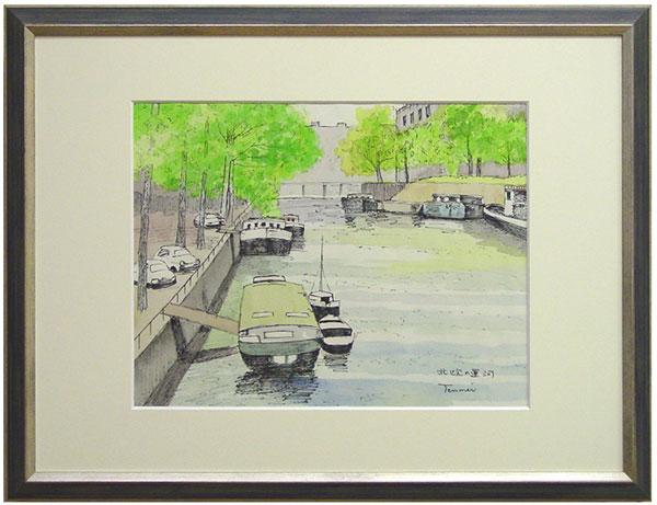 松尾典明『北欧の運河』水彩画