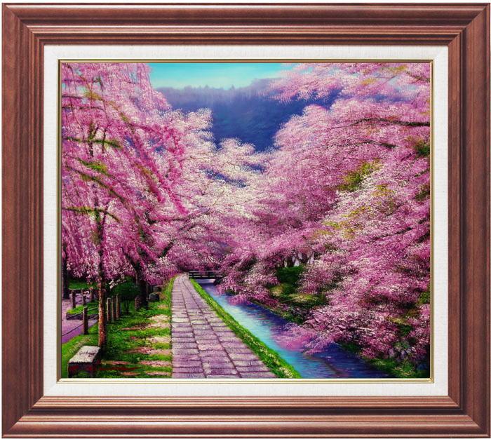 木村由記夫『哲学の道』油絵 F10(10号)
