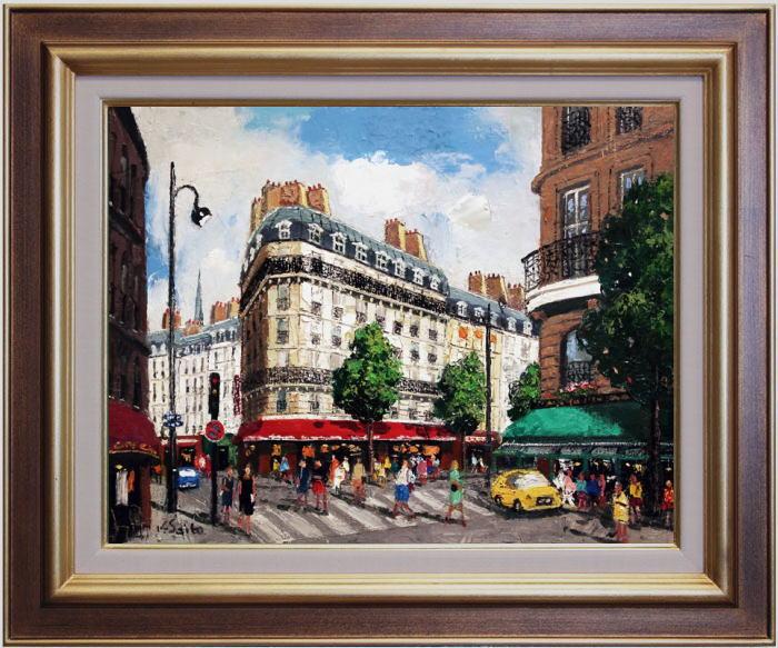 斉藤 要『パリの街角』 2油絵・油彩画 F6(6号)