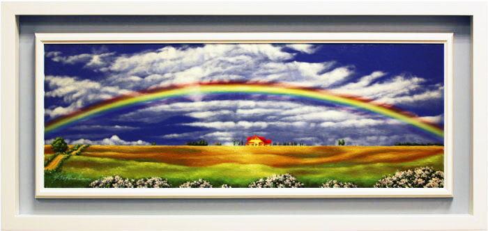 里中 游『虹と大地』油絵・油彩画 WF4