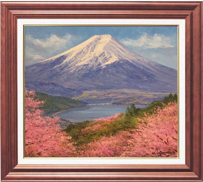 小川久雄『御坂山からの富士』油絵・油彩画 F10(10号)