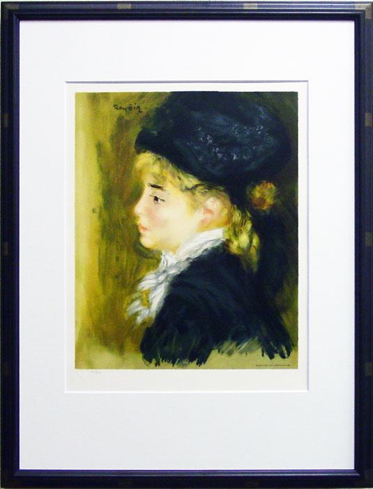 ピエール=オーギュスト・ルノワール『ド・マルゴといわれる女の肖像』~石版画ルノワール名作撰より~リトグラフ(石版画)